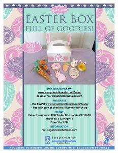 Cop of Easter box flyer showing cookies